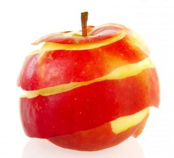Peeled apples